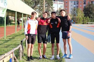 La staffetta 4x100 A con:  Frascarelli-Grieco-Fabri-Rosu
