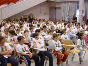 I bambini delle scuole elementari Moggioli di Povo