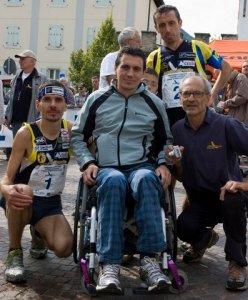 Andrea Facchinelli con Antonio Molinari e Giorgio Facchinelli