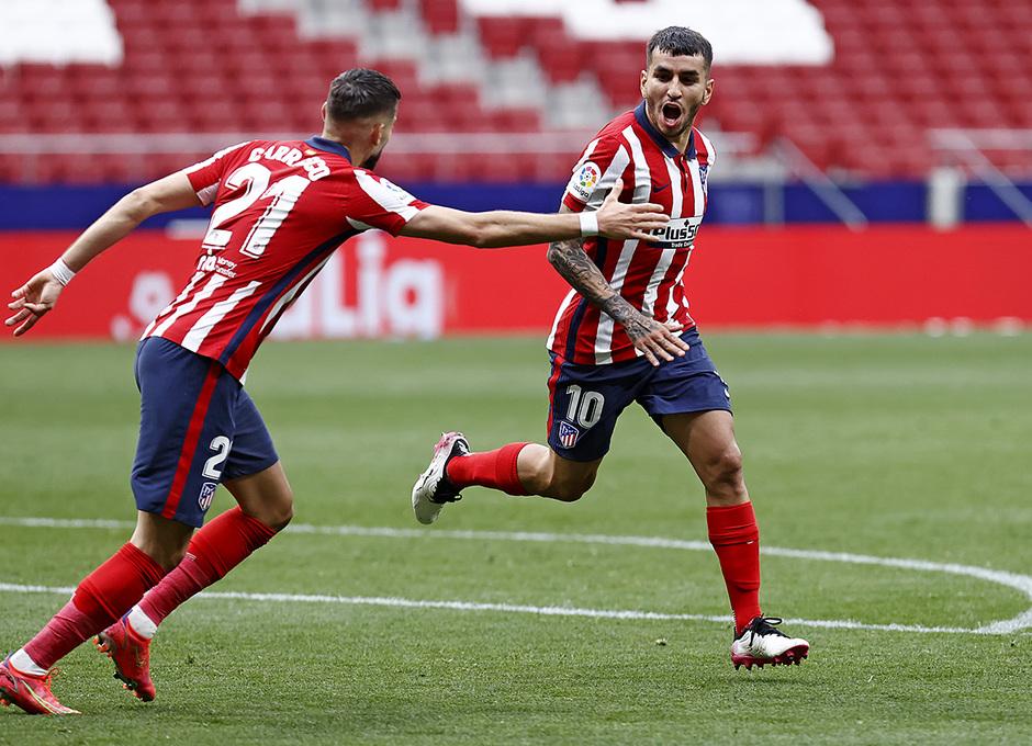 Atlético de Madrid, Huesca, La Liga, Crónica