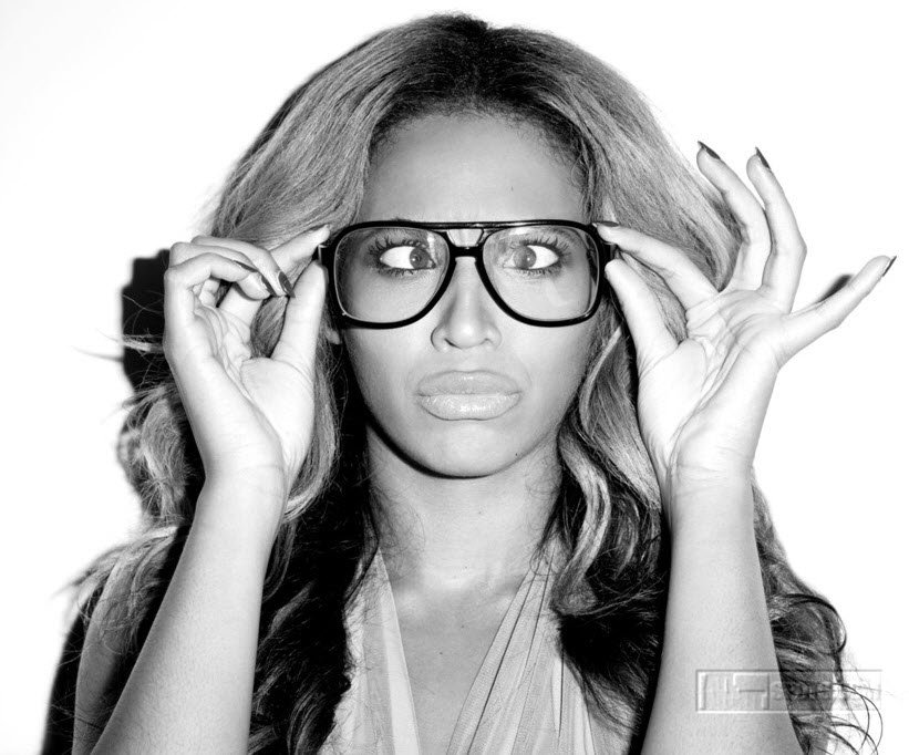 Beyonce in Hipster Glasses
