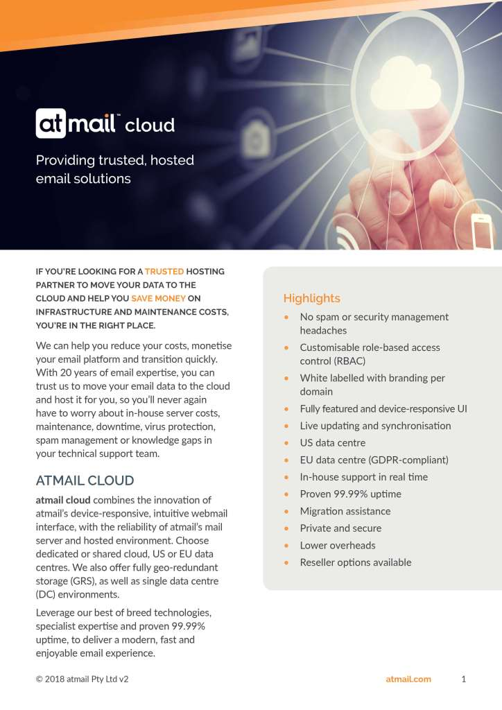 atmail cloud - cover