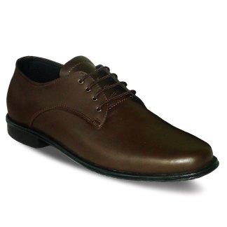sepatu kulit kantor pria derby A04 brown - atmal