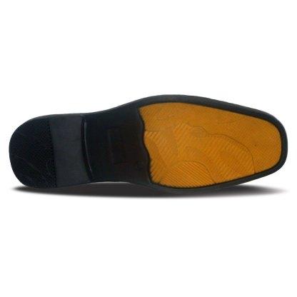 sepatu kulit pantofel pria loafer A08 white - bawah - atmal