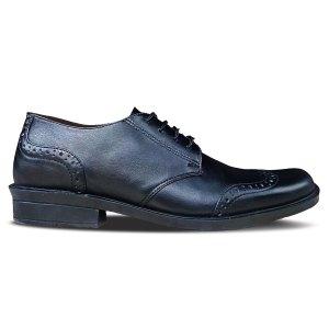 sepatu kulit pria brogue derby A09 black - atmal