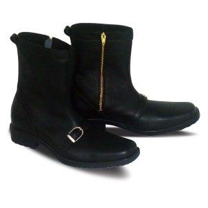 sepatu kulit pria boots B01A black - atmal