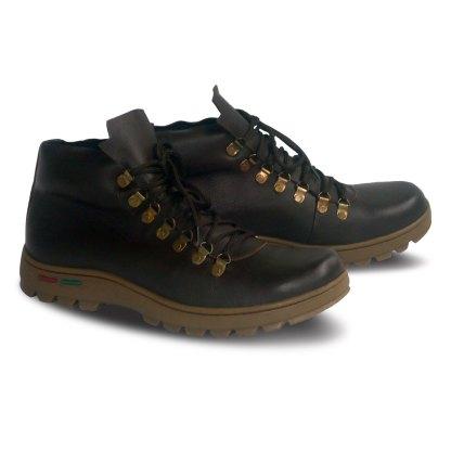 sepatu kulit pria boots B02 brown - 2 - atmal