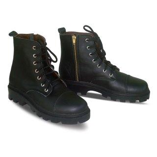sepatu kulit pria derby boots B03 black - atmal