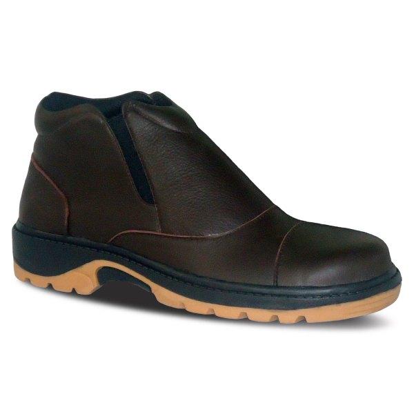 sepatu kulit pria boots B07 brown - atmal