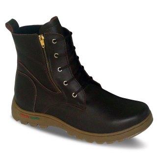sepatu kulit pria derby boots B10 brown - atmal