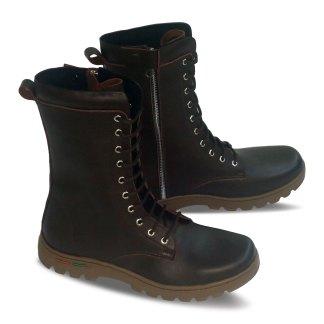 sepatu kulit pria derby boots B11 brown - atmal