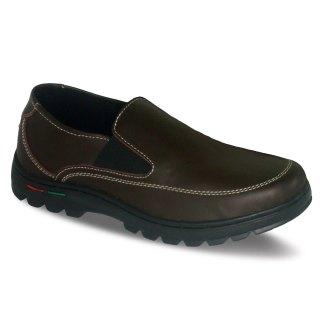 sepatu kulit pria loafer casual C09 brown - atmal