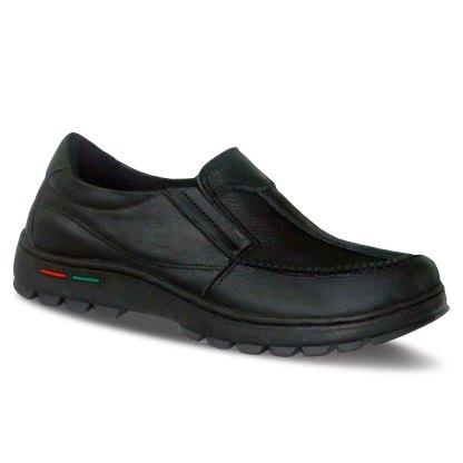 sepatu kulit pria loafer casual C13 black - atmal