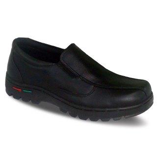 sepatu kulit pria loafer casual C14 black - atmal