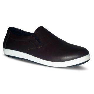 sepatu kulit sneakers D02 brown - atmal