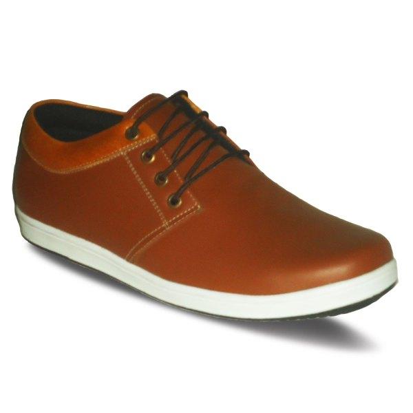 sepatu kulit sneakers derby D03 red brick tan - atmal