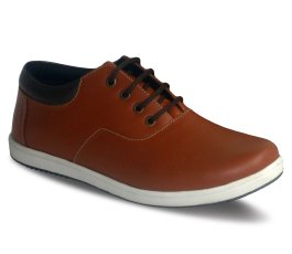 Sneakers Oxford D06 Red Brick Brown