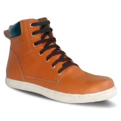 sepatu kulit sneakers derby D08 tan black - atmal