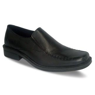 sepatu kulit pantofel pria loafer A08 black - atmal