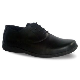 sepatu kulit pria oxford casual C17 black - atmal