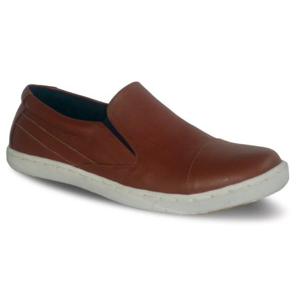 sepatu kulit sneakers D10 red brick - atmal