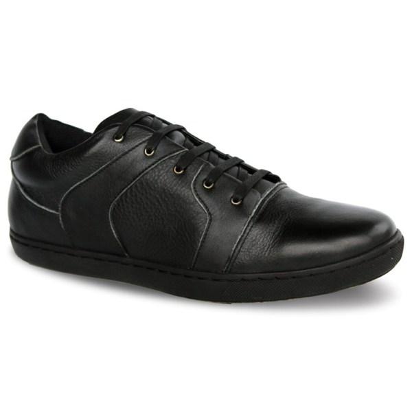 sepatu kulit sneakers oxford D11 black 2 - atmal