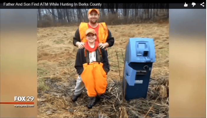 Father Son Hunters Bag an ATM