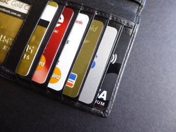 wallet with credit cards