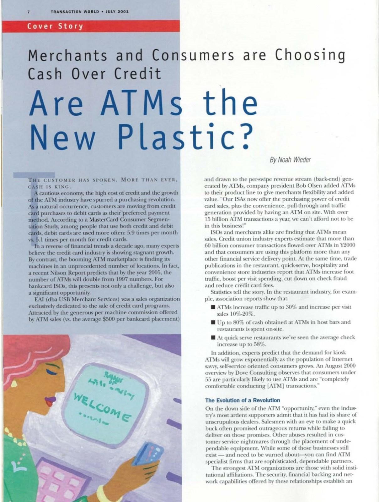 Transaction World Magazine Volume 1, Issue 6, 2001 page 7