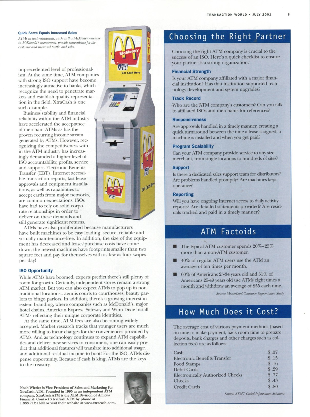 Transaction World Magazine Volume 1, Issue 6, 2001 page 8