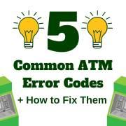 5 Common ATM Error Codes via ATMDepot.com