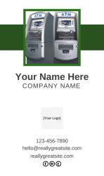 ATM Business Cards 101 - ATM Business Card Sample via ATMDepot