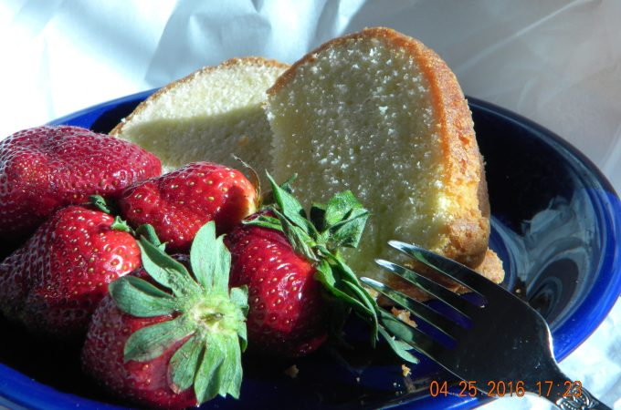 Memories of Meme:  Pound Cake with Fresh Berries
