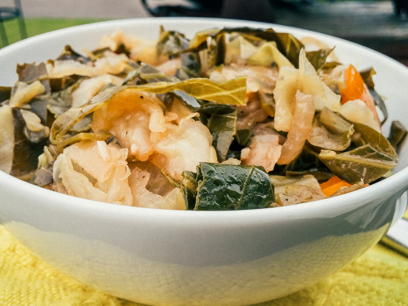 Skillet Sauteed Cabbage and Collards