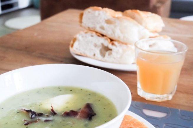 Recept courgette soep - at mi casa