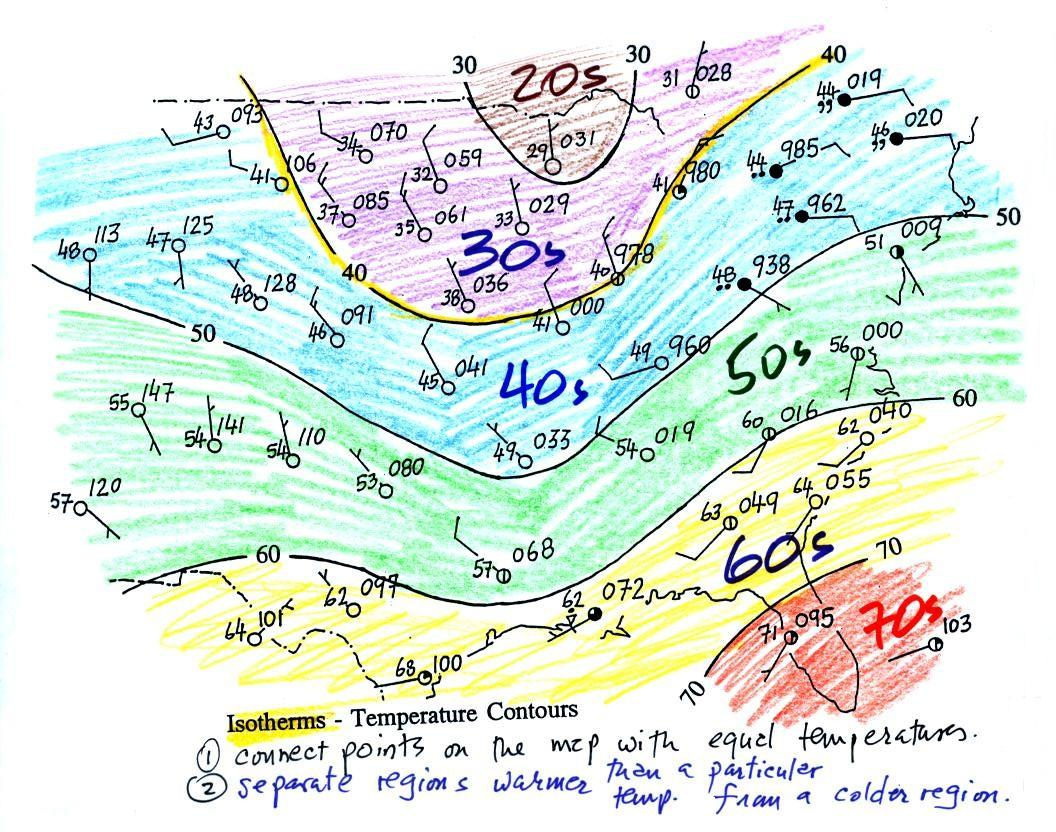 Worksheet Temperature Map