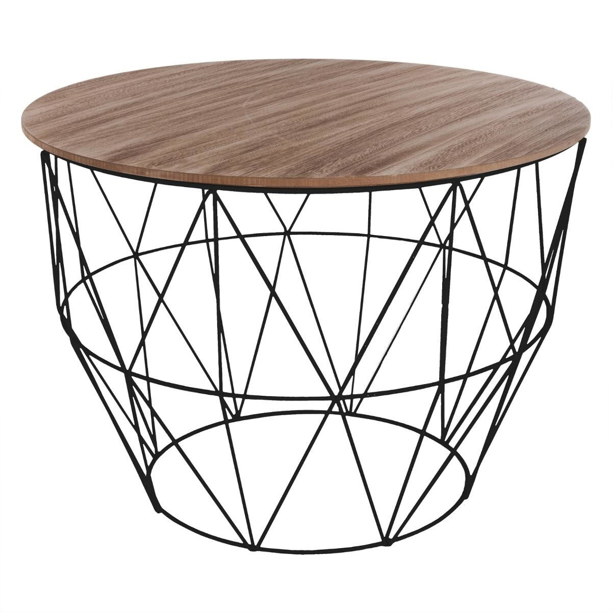 table basse atomic noire d56 cm
