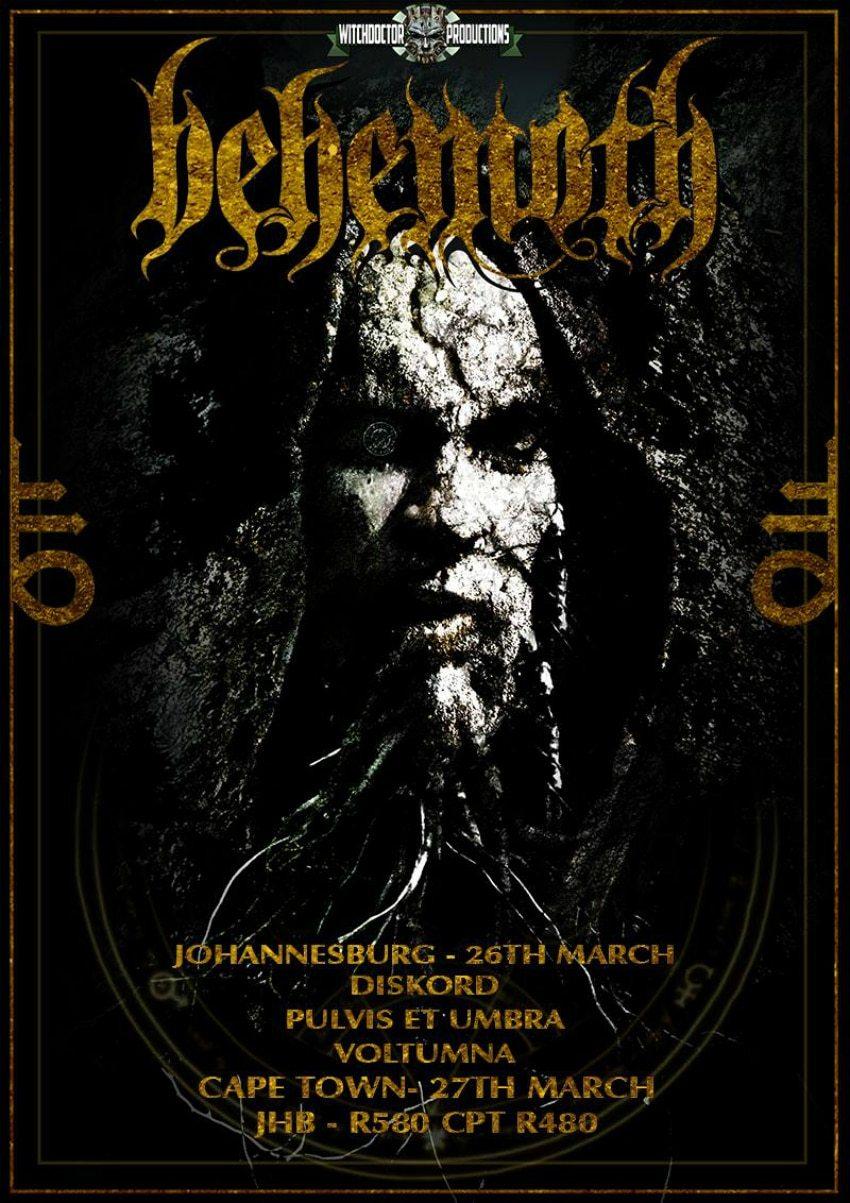 Behemoth South African 2016 Tour