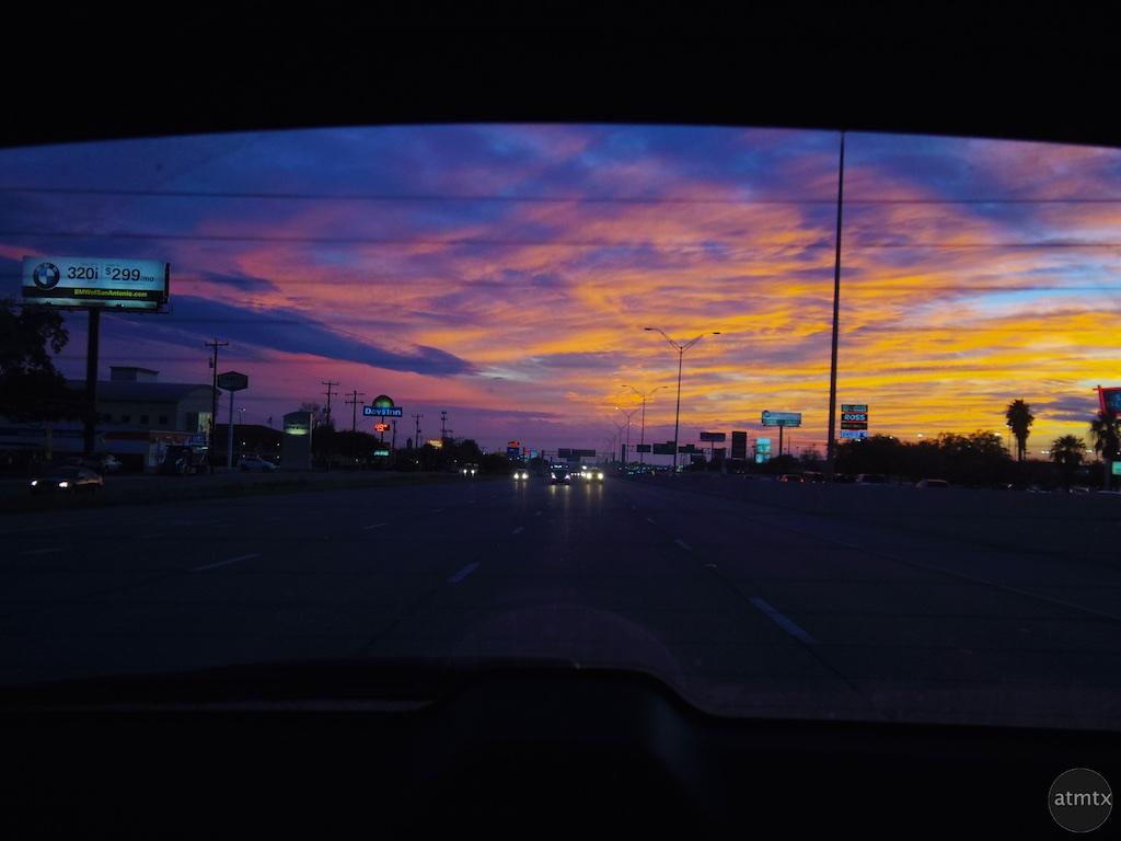 Highway Sunset - San Antonio, Texas