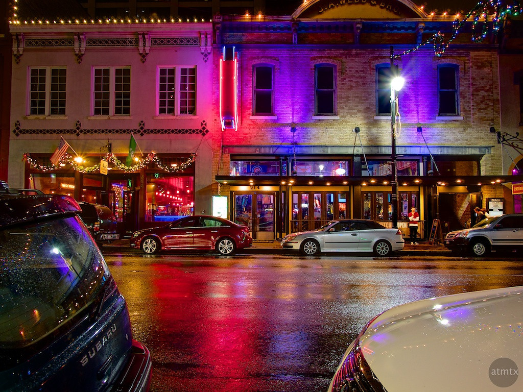 Colorful Bars Across the Street, 6th Street - Austin, Texas