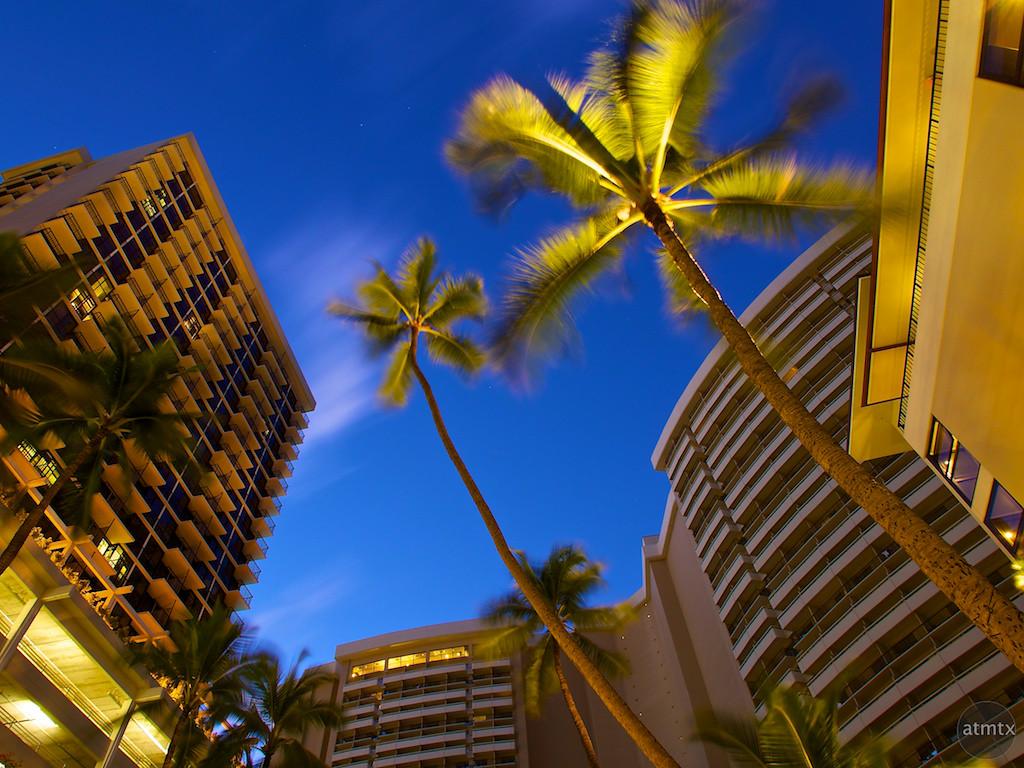 Morning Blue Hour in Waikiki - Honolulu, Hawaii