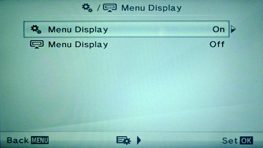 Olympus E-PM2 Menu Display