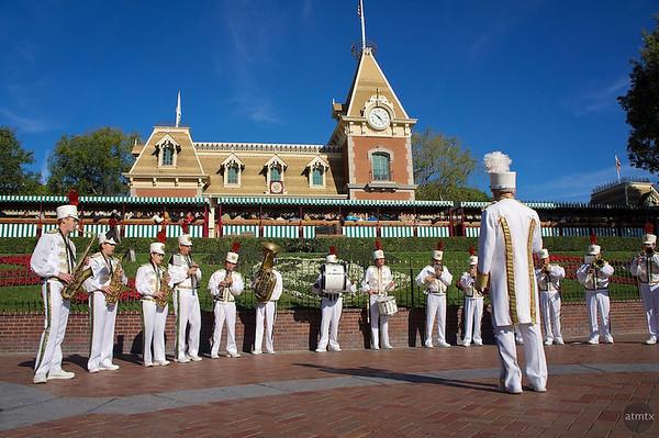 Band Performance at Main Entrance