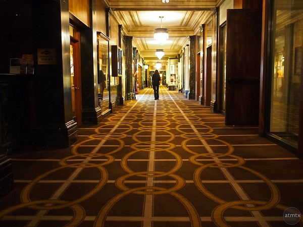 The long moody corridor, Westin St. Francis - San Francisco, California