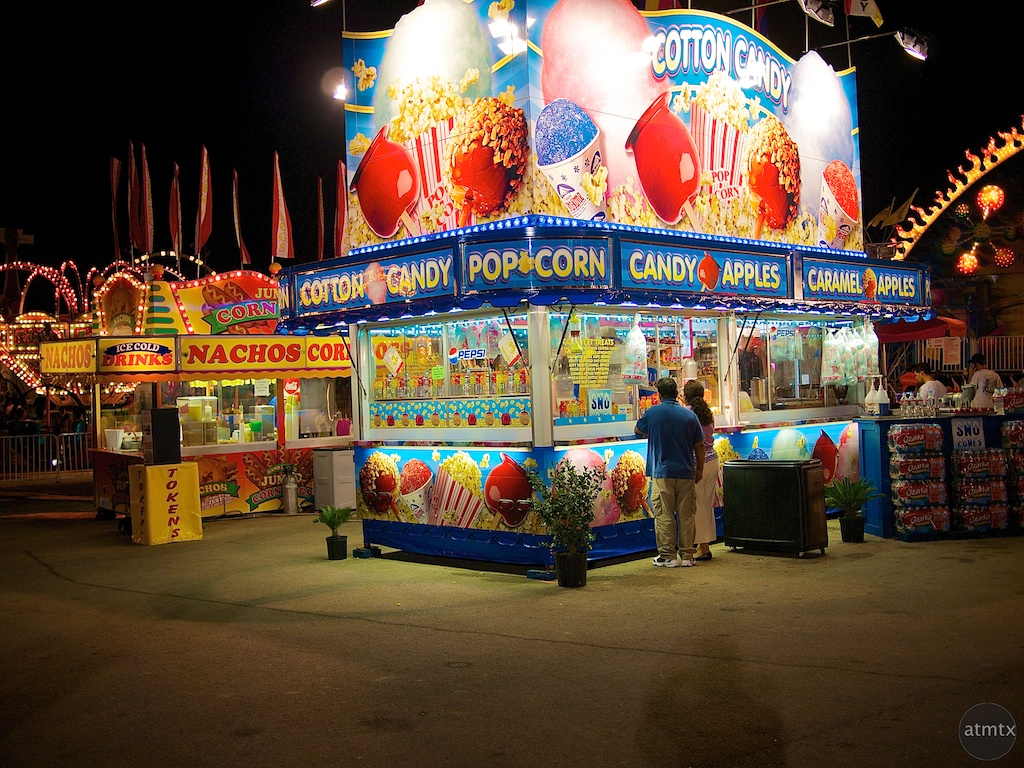 Glowing Food Stands, Rodeo Austin
