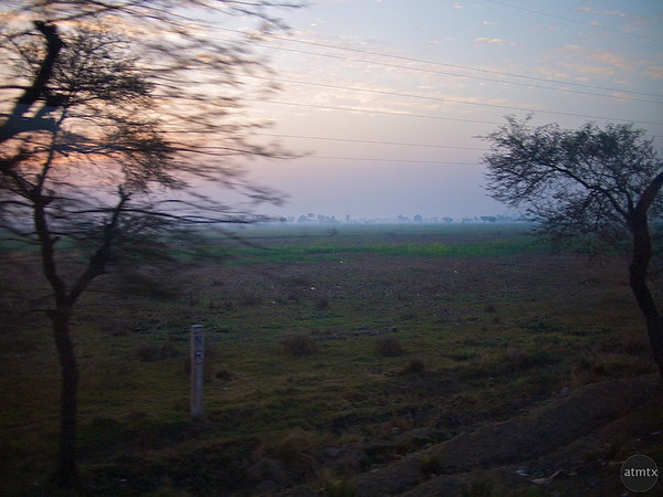 Indian Countryside #1, Shatabdi Express Train - Between Delhi and Agra, India