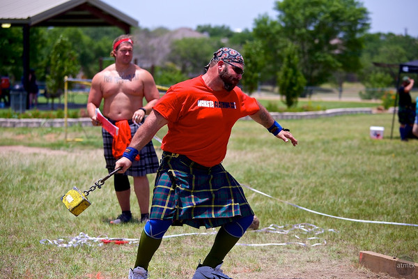 Weight for Distance (42 pounds) #2, Highland Games - Pflugerville, Texas