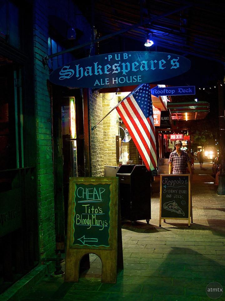 Cheap Drinks, Shakespeare's Pub - Austin, Texas