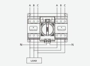 Automatic Transfer Switch, 34 Pole, 6 to 63 Amps | ATO