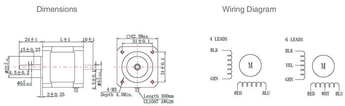 nema 17 stepper motor schematic motorssite org nema 17 wiring adafruit nema 17 stepper motor 6v 1a 1 8 degree 2 phase 4 wires ato com